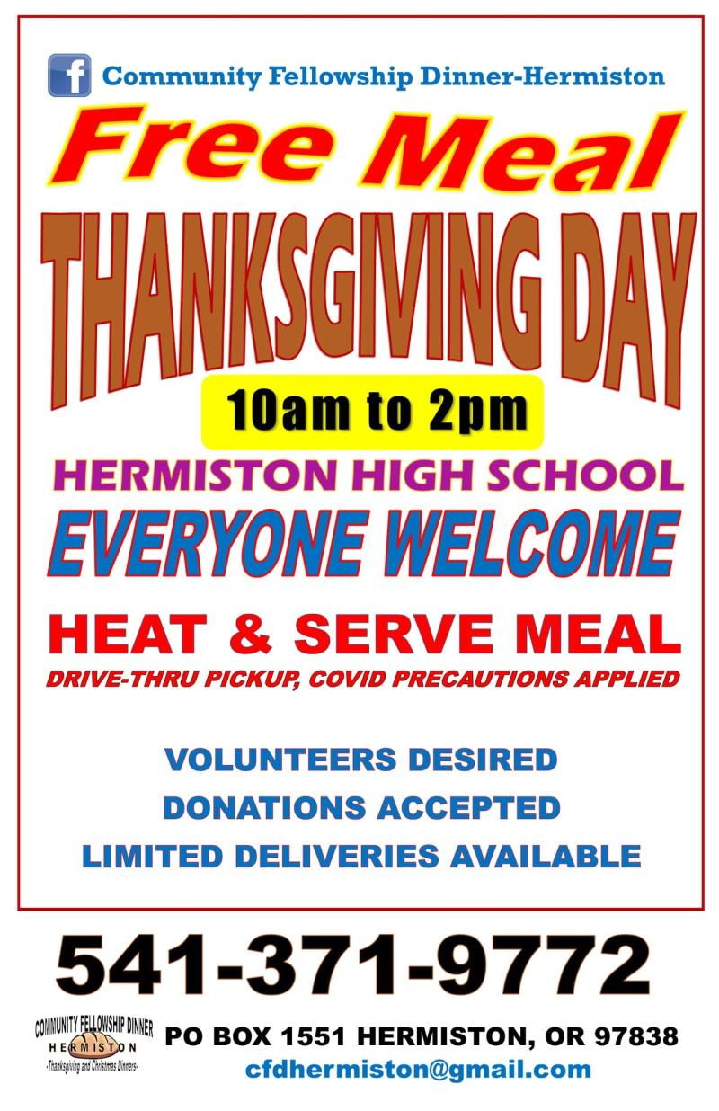 Free Thanksgiving Day Meal